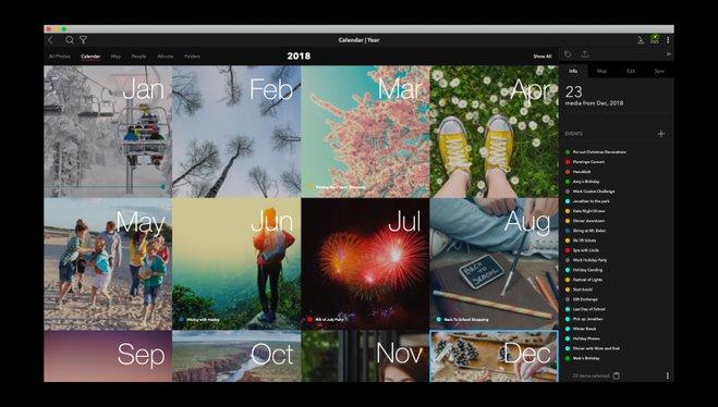 Mylio Life Calendar screenshot